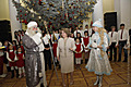 On the occasion of New Year and Holly Christmas, Mrs. Rita Sargsyan hosted Armenian children from Syria