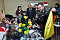 First Lady of Armenia Rita Sargsyan on the occasion of New Year and Holly Christmas visited 10-year old Shushanik, who wrote her that could not attend the receptions organized for children at the Presidential Palace because of her illness.
