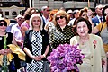 RA First Lady Rita Sargsyan and widow of legendary intelligence agent Gevork Vartanian at opening ceremony of Gevork Vartanian's memorial plaque
