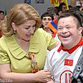 On June 1, on the occasion of the Day of Protection of Children, First Lady Rita Sargsyan visited the Center for Recovery of handicapped children and adolescents.