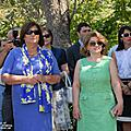 The First Lady of Armenia Rita Sargsyan and First Lady of Poland Anna Komarowska, who has arrived to Armenia in the framework of the Polish President's official visit to Armenia, on July 28 visited Garni and familiarized with the history of the paga