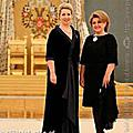 "Spouse of the President of the Republic of Armenia Mrs. Rita Sargsyan and Spouse of the President of the Russian Federation Svetlana Medvedeva before the International Festival of the CIS Young Performers of the Classical Music ""Rising Starts in Kre"