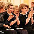 "Spouse of the President of Armenia Mrs. Rita Sargsyan, Spouse of the President of the Russian Federation Svetlana Medvedeva and Queen of Belgium Paola at the International Festival of the CIS Young Performers of the Classical Music ""Rising Starts in"