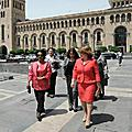 The First Lady of Armenia Rita Sargsyan and Sheikha al-Ahmad al-Jaber al-Sabah of Kuwait, on May 12 visited the Museum of History of Armenia.