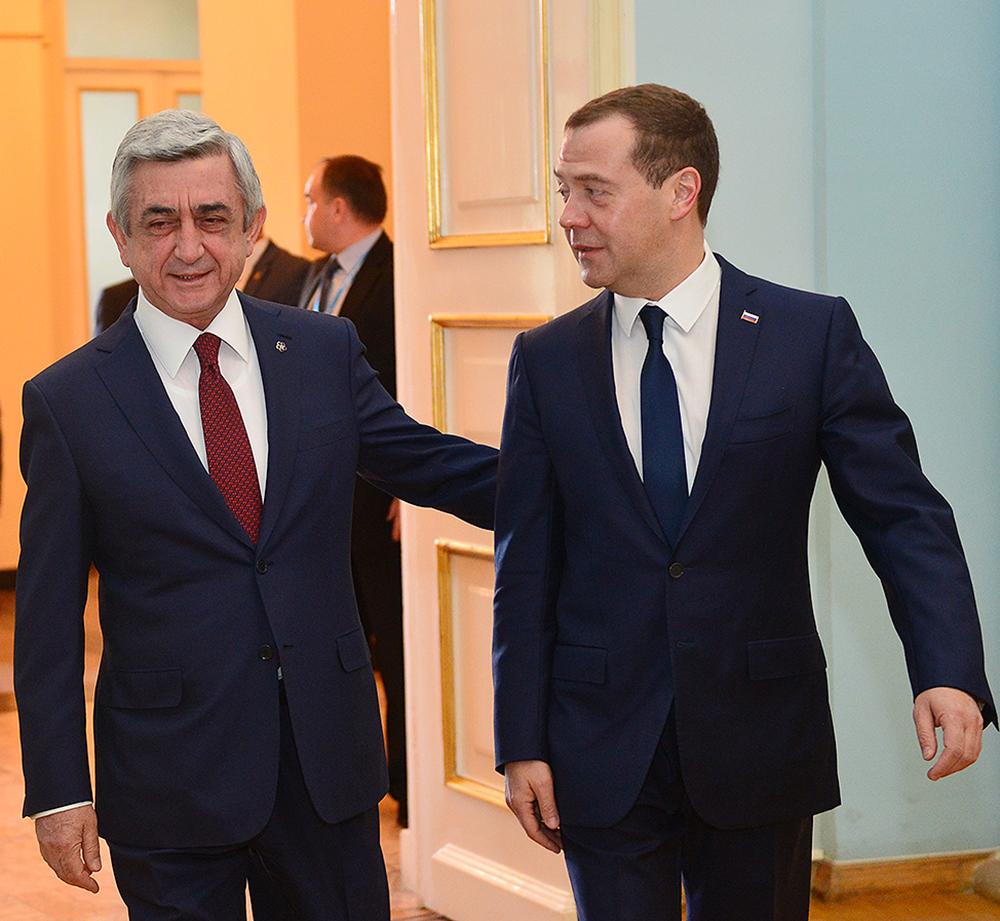 Սերժ Սարգսյանը անկեղծ մաղթանքներ է հղել ՌԴ վարչապետին