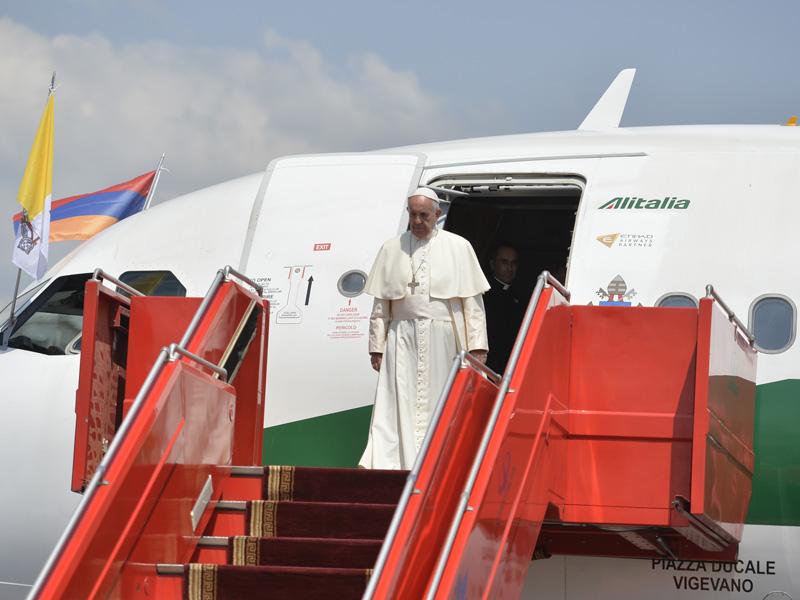 Հայաստան է ժամանել Հռոմի Պապ Նորին Սրբություն Ֆրանցիսկոսը