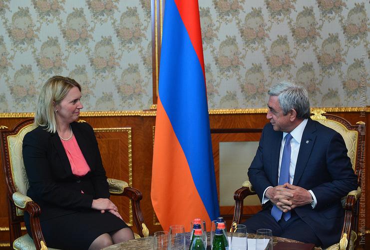 Президент Армении ознакомил представителя Госдепа США с последними развитиями в процессе карабахского урегулирования