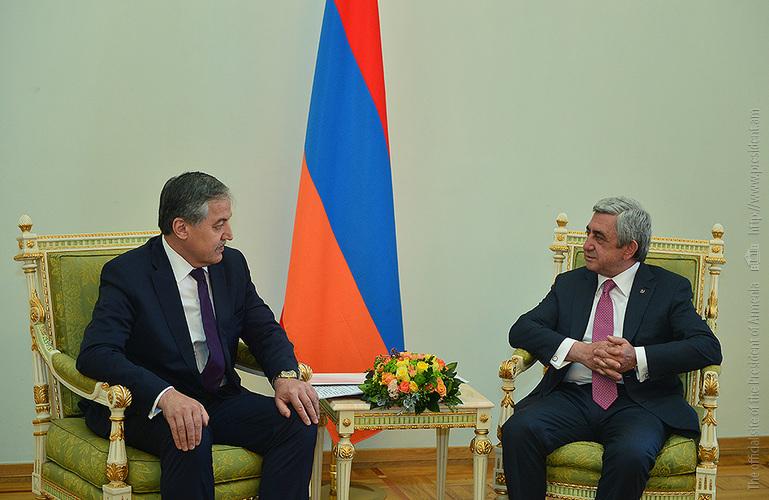 Նախագահն ընդունել է Տաջիկստանի արտաքին գործերի նախարար Սիրոջիդին Ասլովին