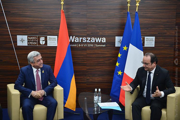 Հայաստանի և Ֆրանսիայի նախագահները Վարշավայում անդրադարձել են ԼՂ  հիմնախնդրին