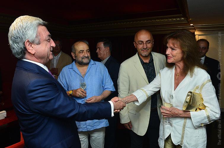 Սերժ Սարգսյանը հաջող ընթացք է մաղթել «Ոսկե ծիրան» միջազգային կինոփառատոնին