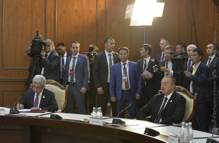 Հայաստանի և Ադրբեջանի նախագահները Բիշկեկում են