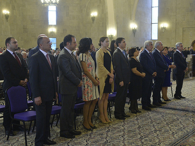 Նախագահը ներկա է գտնվել ՀՀ Անկախության 25-րդ տարեդարձի առթիվ կատարված Հանրապետական մաղթանքին