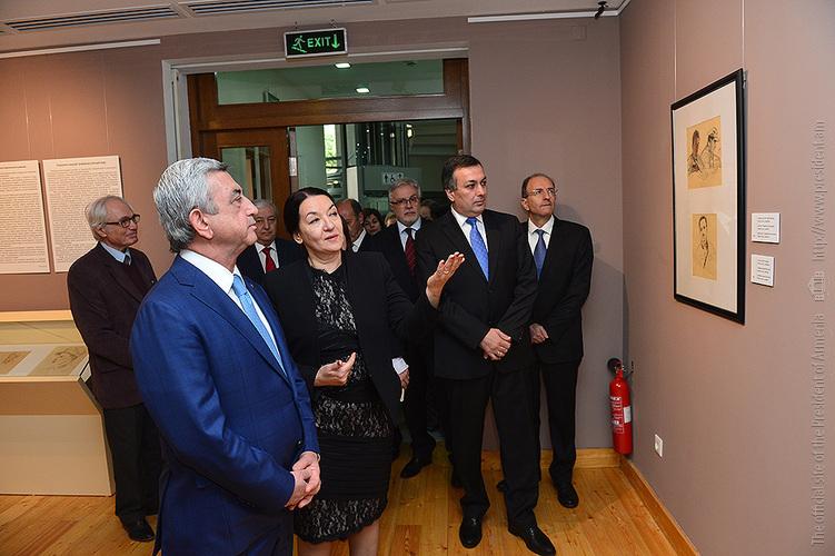 Президент Армении стал первым гостем капитально отремонтированного Дома-музея Мартироса Сарьяна