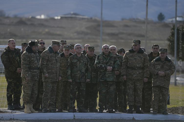 Президенты Армении и НКР проверили новые оборонные технологии на боевых постах вблизи Талыша и Матагиса