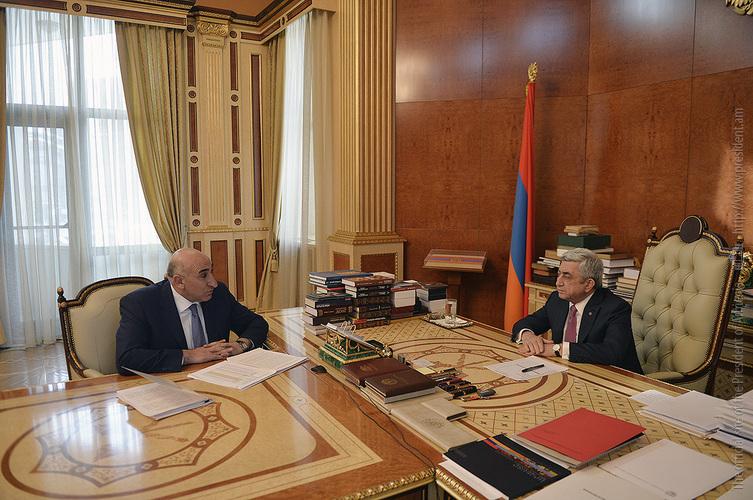 Давид Локян представил президенту Армении первые результаты реформ по развитию регионов