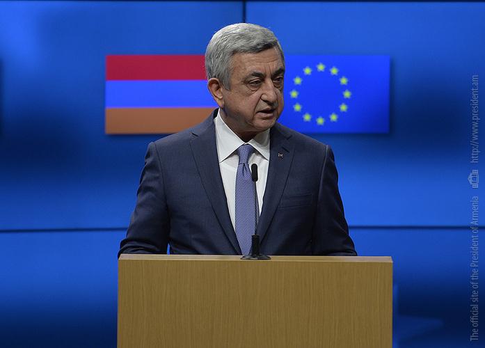 Серж Саргсян: Отправной точкой является право народа Нагорного Карабаха решить свою судьбу путем свободного волеизъявления