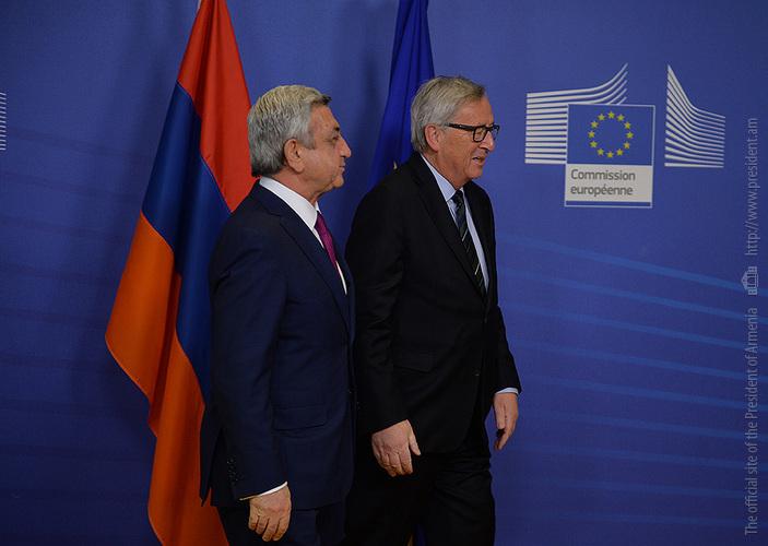 Президент Армении представил главе Еврокомиссии последние развития в процессе карабахского урегулирования и ситуацию в регионе