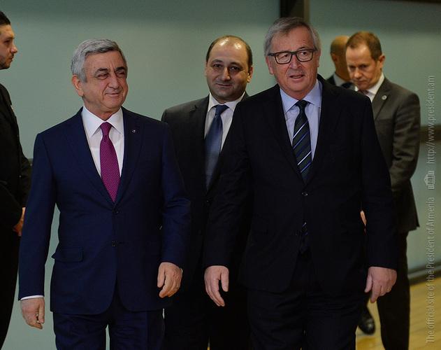 Саргсян: Армения придаёт большое значение развитию экономических отношений с Евросюзом