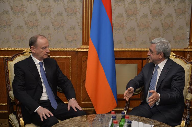 Президент Армении принял секретаря Совета безопасности РФ