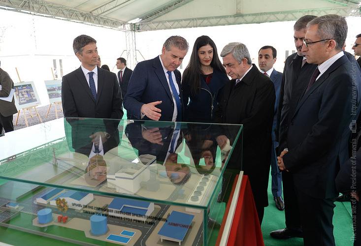 В Ереване строится новая ТЭС: на церемонии закладки фундамента присутствовал президент Армении