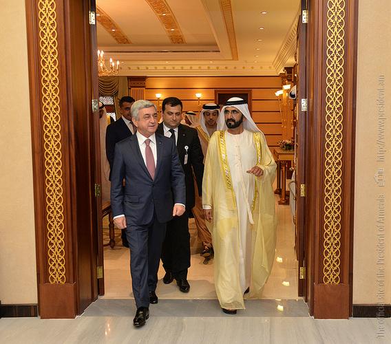 Серж Саргсян: Армения придает большое значение торгово-экономическому сотрудничеству с ОАЭ