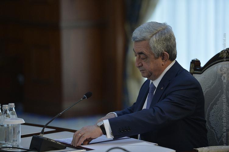 Серж Саргсян: Оборот торговли Армении со странами ЕАЭС вырос более чем на 15%