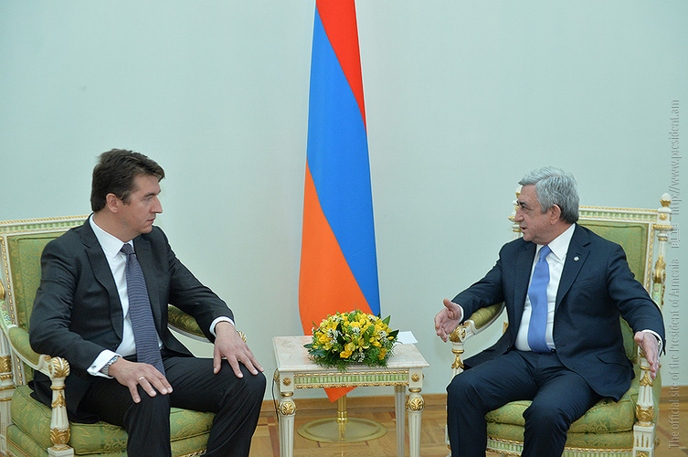 Президент Армении и новый посол Сербии обсудили перспективы развития двусторонних экономических отношений