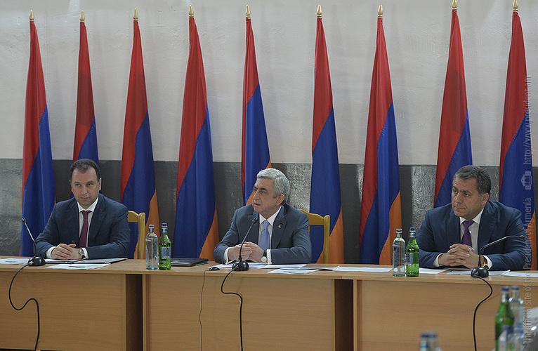 Серж Саргсян: Правительство Армении будет содействовать и обеспечит крепкий тыл для каждой приграничной общины
