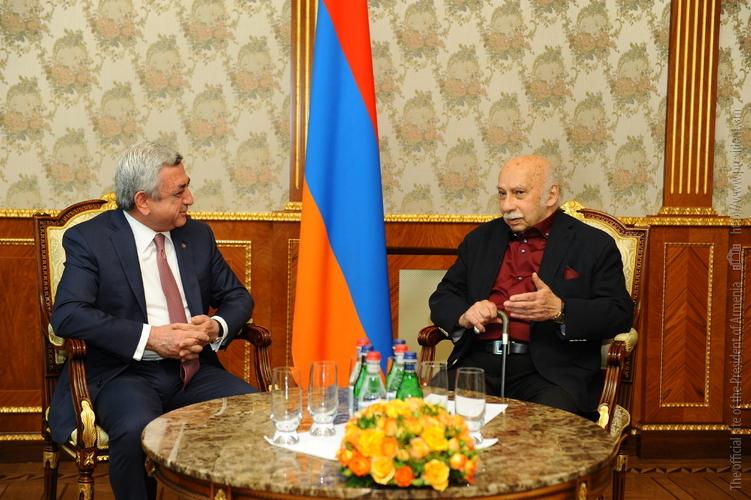 Серж Саргсян: В Армении любят и высоко ценят искусство грузинского композитора Г.Канчели
