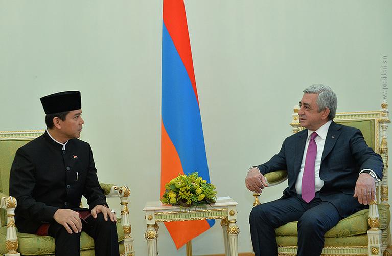 Серж Саргсян: Армения готова к углублению межгосударственных отношений с Индонезией