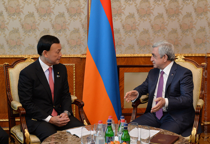 Президент Армении и замглавы МИД Японии обсудили вопросы расширения двусторонних отношений