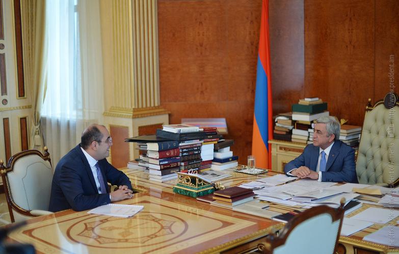 Серж Саргсян поручил Г. Ростомяну ускорить работу по разработке концепции развития в Армении спортивного туризма