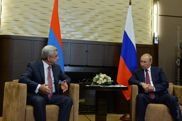 Серж Саргсян поблагодарил Путина за помощь России в деле тушения лесных пожаров