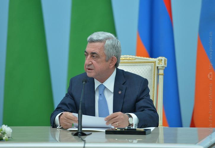 Серж Саргсян: На переговорах с Г. Бердымухамедовым обсуждался вопрос запуска прямого авиарейса между Арменией и Туркменистаном