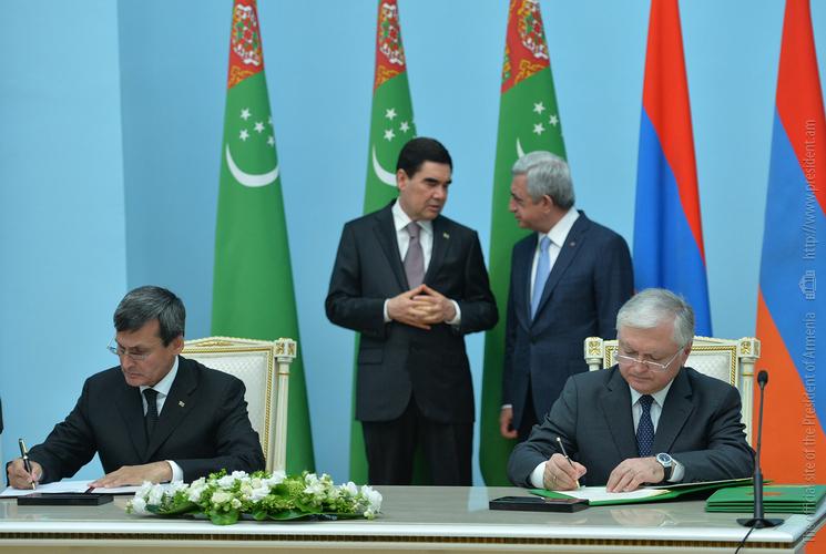 В Ереване подписаны соглашения об углублении армяно-туркменского сотрудничества