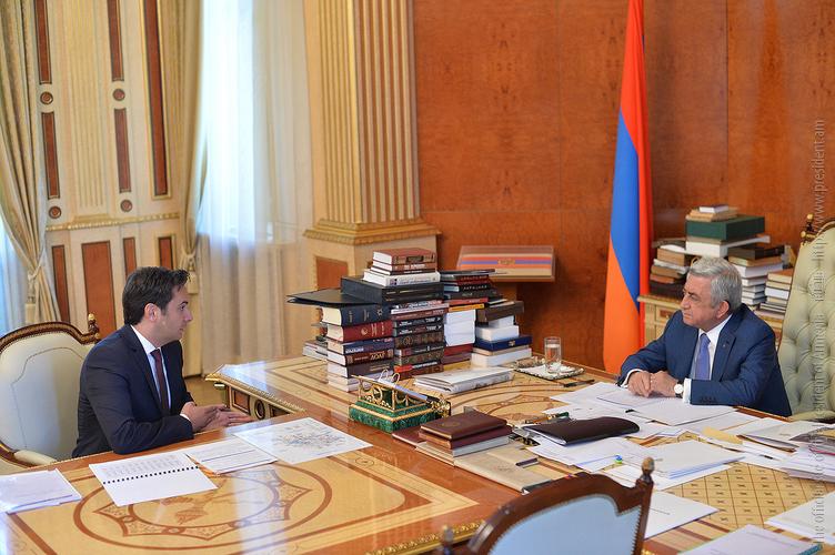 Сержу Саргсяну представили ход переговоров по созданию единого воздушного пространства Армения – ЕС