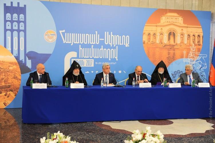 «Приближаемся к очень важной вехе»: Речь С.Саргсяна на совещании рабочей группы конференции Армения-Диаспора