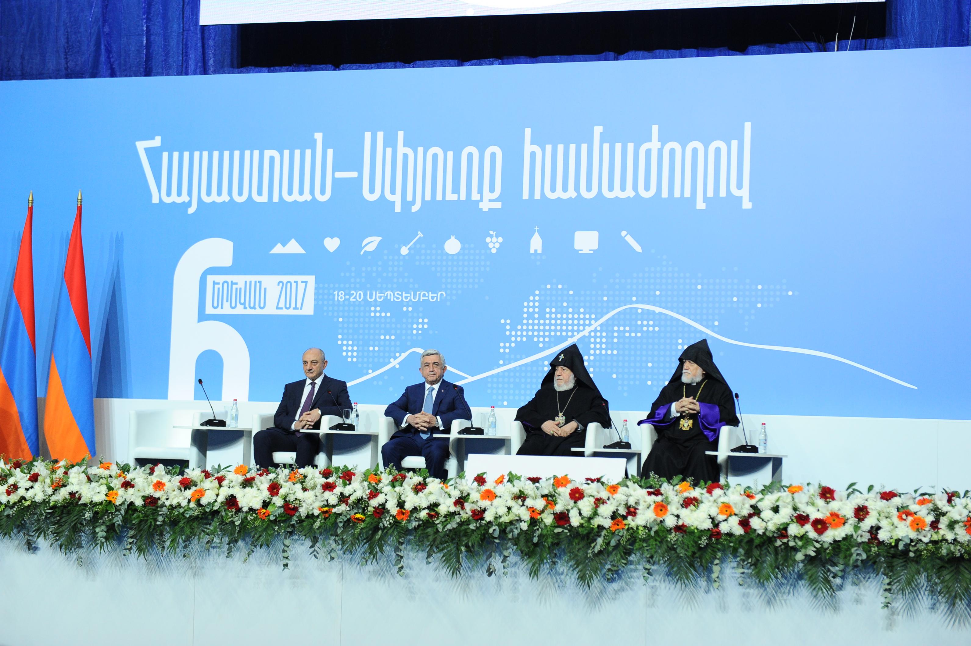 President Attends 6th Pan Armenian Armenia Diaspora Conference