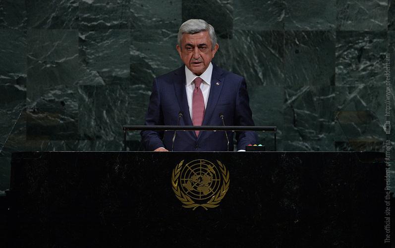 Арцах никогда не был частью независимого Азербайджана. Речь президента Армении на 72-й сессии Генассамблеи ООН