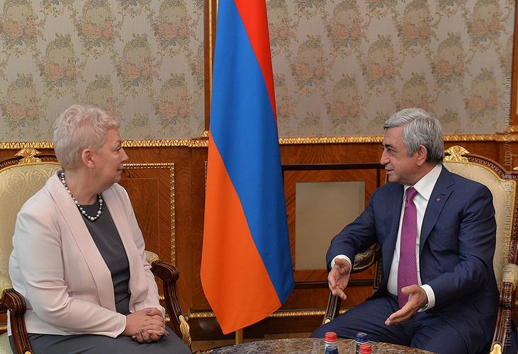 Глава Минобрнауки России выразила президенту Сержу Саргсяну восхищение идеей внедрения в школах Армении предмета «Шахматы»
