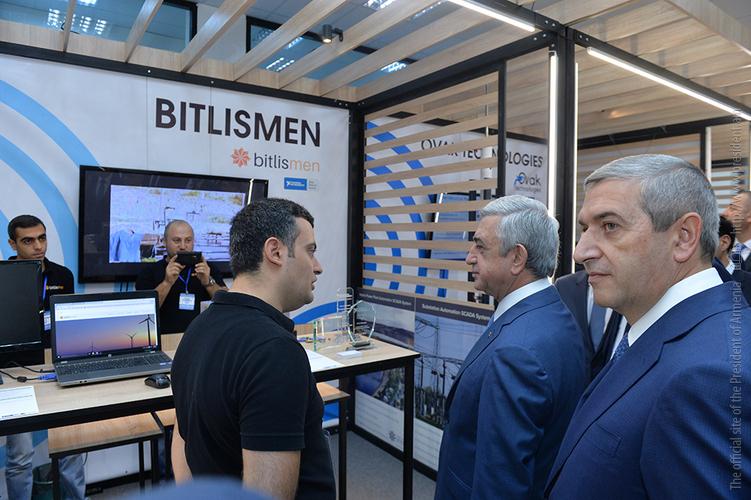 Серж Саргсян посетил технологическую выставку «Digitec-Expo 2017»