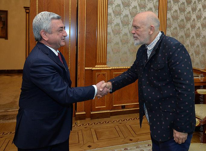 Серж Саргсян принял голливудского актера, сценариста и продюсера Джона Малковича