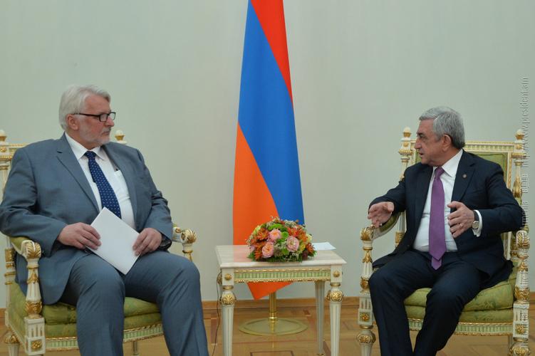 Серж Саргсян отметил важность роли Польши в деле укрепления отношений Армении и ЕС
