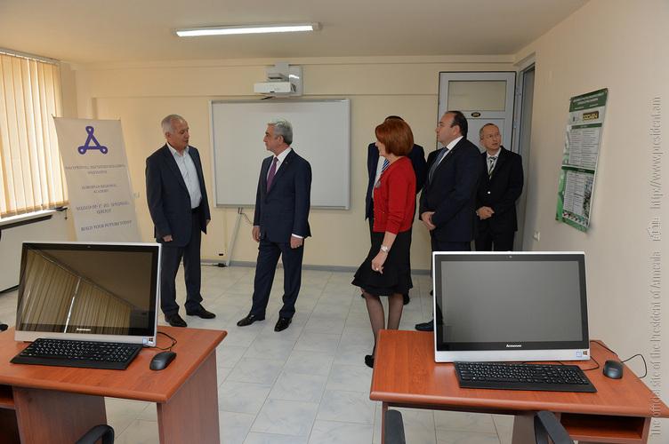 Серж Саргсян посетил Европейскую образовательную региональную академию