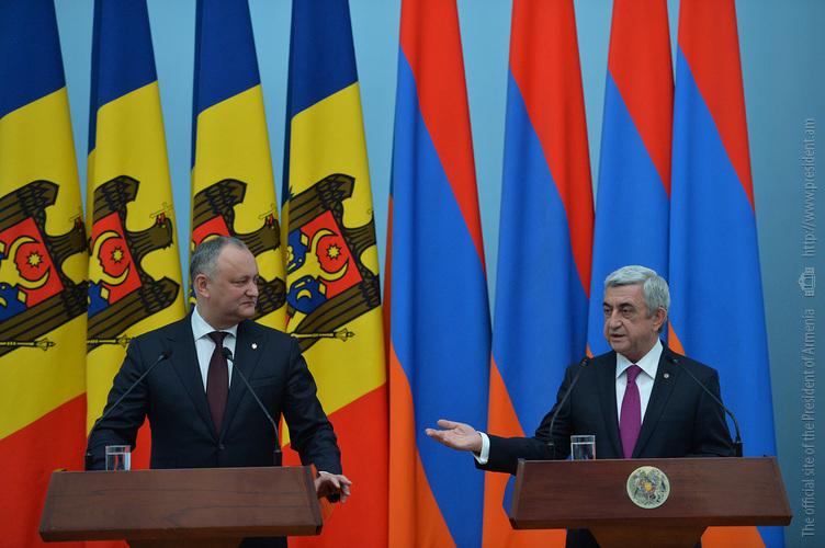 Президент С. Саргсян: Армения поддерживает стремление Молдовы к более тесному сотрудничеству с интеграционными объединениями