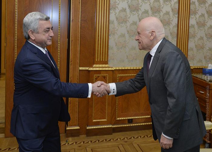 Серж Саргсян на встрече с Лео Бокерия: Армения придает большую важность развитию сферы здравоохранения