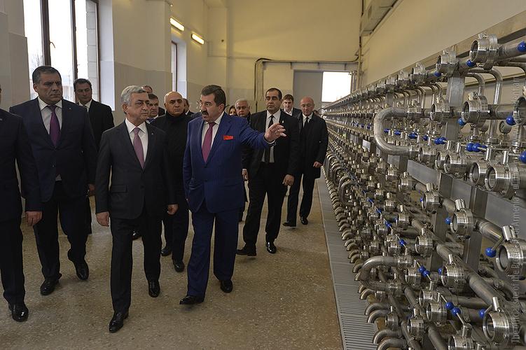 Серж Саргсян присутствовал на церемонии открытия пивоваренного завода «Дилижан»
