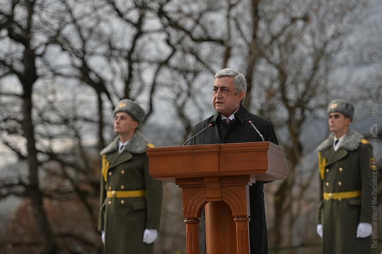 Серж Саргсян в Дилижане принял участие в церемонии открытия нового образовательного комплекса им. Монте Мелконяна