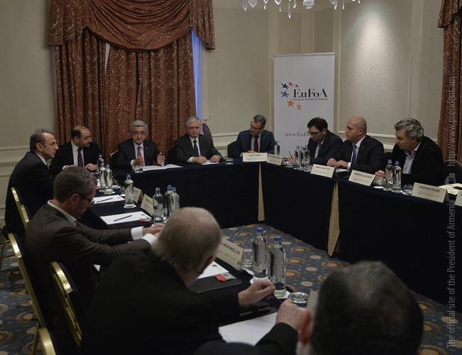 Серж Саргсян: «Европейские друзья Армении» делают ценную и значительную работу