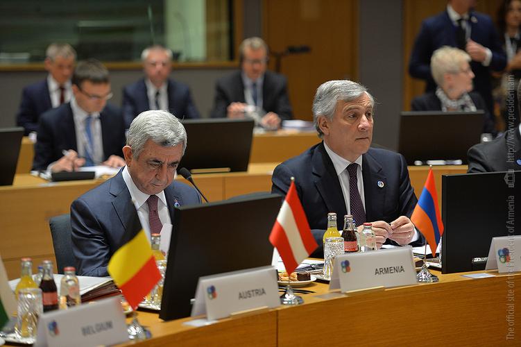 Серж Саргсян участвует в саммите «Восточного партнёрства» в Брюсселе